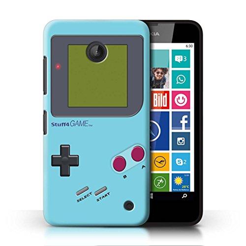 Stuff4® Hülle/Case für Nokia Lumia 635 / Hellblau Muster/Videogamer/Gameboy Kollektion