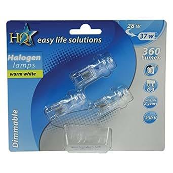 Ampoule économique G9 Halogene 28W bi-pin