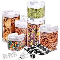 Recipientes para cereales conjunto de 6, MAIKEHIGH Contenedor de almacenamiento de alimentos sin BPA Contenedores