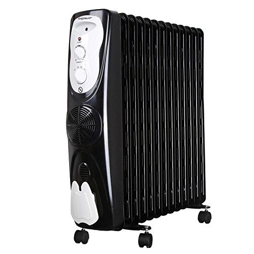 Aigostar Protector 33JHG – Radiateur à bain d'huile portable. 13 éléments, 2800 W. Chauffe en toute sécurité grâce à son système d'air chaud et son thermostat réglable. Design exclusif.