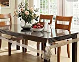 #3: Clasiko Table Cover Transparent With Golden Lace