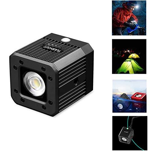fotowelt Cube LED-Videolicht mit 1/4' 20 Schraubenloch Unterwasser Videoleuchte Campingbeleuchtung Wasserdicht 20m für DSLR,...