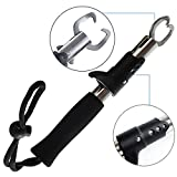 #2: Fishing Portable Grip Stainless Steel Handle Grab Fish Lip Gripper Fishing Tackle Tool