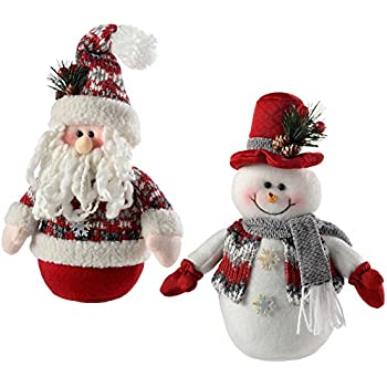 WeRChristmas Pre-Lit LED Snowman with Fairisle Knitted Outfit, 25 ...