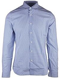 Prada chemise à manches longues homme popeline fantasy blu