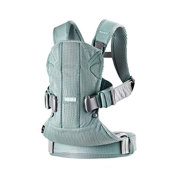 BABYBJÖRN Baby Carrier One Air, 3D Mesh, Frosted Green, 2018 Edition Baby Bjorn The latest version (2018) with soft and breathable mesh that dries quickly Ergonomic baby carrier with excellent support 4 carrying positions: facing in (two height positions), facing out or on your back 3