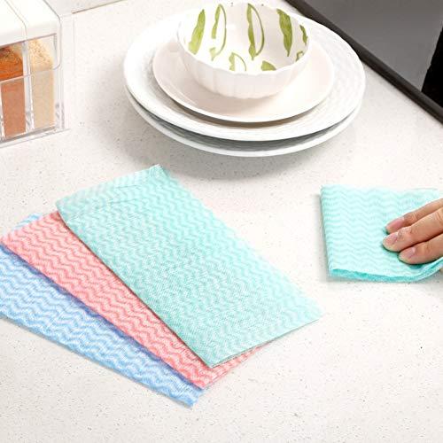 Einweg-arbeitsplatte (MOCRIS 80 Blatt/Pack Einweg-Vliestücher Geschirrtuch Küchenreinigungstuch Antihaft-Wischtücher Zufällige Farbe)