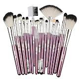 zimuuy Pinceaux Maquillage Cosmétique Professionnel 18pcs Set/Kit Cosmétique Brush Beauté Maquillage Brosse Makeup Brushes Cosmétique Fondation (taille unique, A)