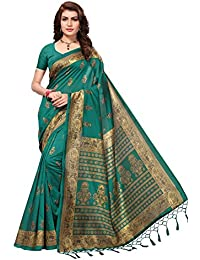 Indira Designer Women's Multi-Color Mysore Silk With Tessals Saree With Blouse Piece
