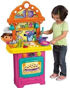 dora l 39 exploratrice cuisine nombreux accessoires import usa jeux et jouets. Black Bedroom Furniture Sets. Home Design Ideas
