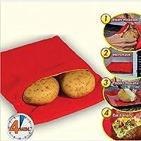 Zeagro Bolsa de Papa al Horno (Cocina 4 Papas a la Vez) Herramientas de Cocina Microondas en 4 Minutos Bolsa de Papa de cocción Conveniente 1PC