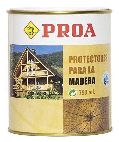 Proa. Protector madera al agua. PROA