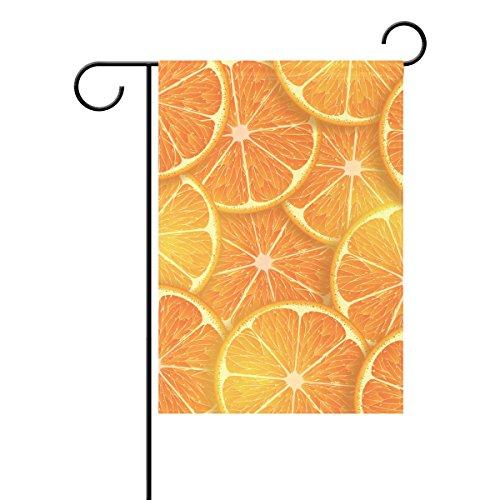 Duble Sided organge Sommer Lemon Fruits Party tropischen Urlaub Seasonal Polyester HAUS GARTEN Flagge Banner 12x 18/71,1x 101,6cm für Hochzeit Party alle Wetter, Polyester, multi, 28x40