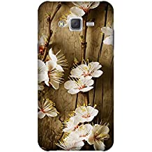 Yashas Plastic Printed Case & Cover for Samsung Galaxy J5 (2015 Model) (Wooden With Flower)