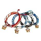 POPETPOP Hundehalsband Halsband Einstellbar Handmade Japanischen Stil mit Glocke für Hunde Katze Haustier - Größe S (Zufällige Farbe)