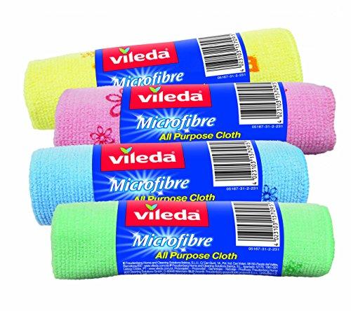 Vileda Bayeta de Limpieza de Microfibras MultiRollo, Colores surtidos