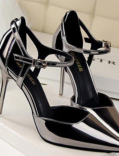 WSS 2016 Chaussures Femme-Soirée & Evénement-Noir / Rouge / Argent / Taupe / Amande / Beige-Talon Aiguille-Talons / Bout Ouvert-Chaussures à almond-us8 / eu39 / uk6 / cn39