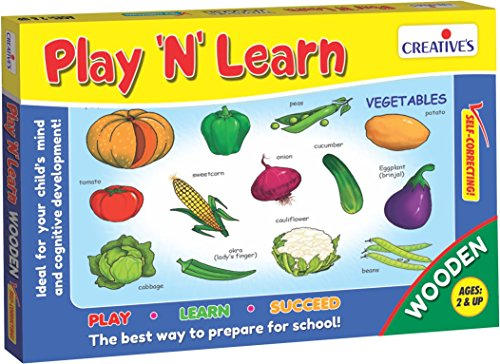 Creative Educational Aids Private Limited Creative's Play 'N' Learn Vegetables, Multi Color