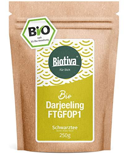 Darjeeling First Flush BIO 250g I Top Bio Schwarztee I Abgepackt und kontrolliert in Deutschland (DE-ÖKO-005) I Vorteils-Preis durch Direktimport