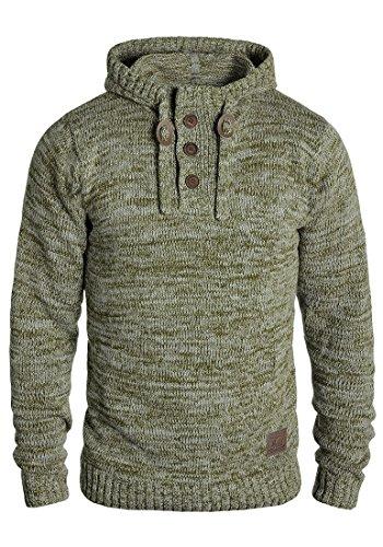 !Solid Philon Herren Winter Pullover Strickpullover Kapuzenpullover Grobstrick Pullover mit Kapuze, Größe:S, Farbe:Ivy Green (3797) -