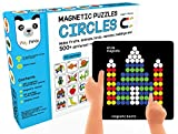 #7: Play Panda Magnetic Puzzles Circles With 250 Magnets, Magnetic Board, Puzzle Book And Display Stand - Blue