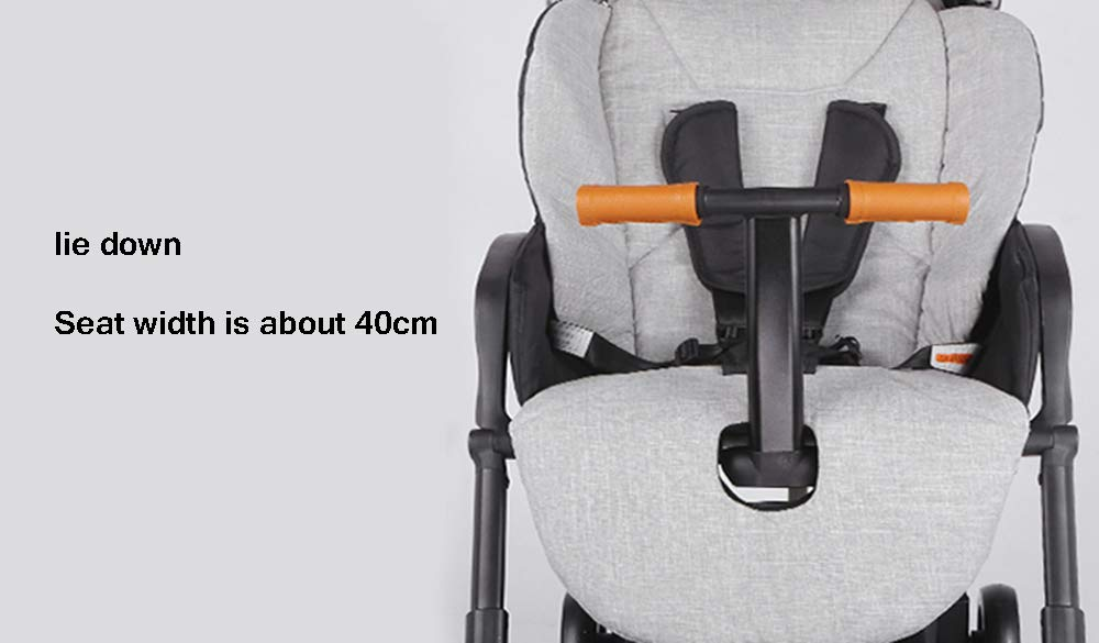 MYRCLMY Baby Double Stroller, Twin Baby Strollers Lightweight 5-Point Safety System Canopy UV Protection Independently Reclining Seats Easy Fold Storage Basket Drink Holder Tray,Black  *LIGHTWEIGHT - Travel-friendly lightweight design is perfect for traveling and day trips. *FREEDOM OF SEPARATION - can be used by single person, can be used by two people, quick release design of connector, free to split and more convenient to use. *RECLINING SEAT -- Reclining seat offers 5-point safety restraint system and accommodates child to 50KG per seat. 6