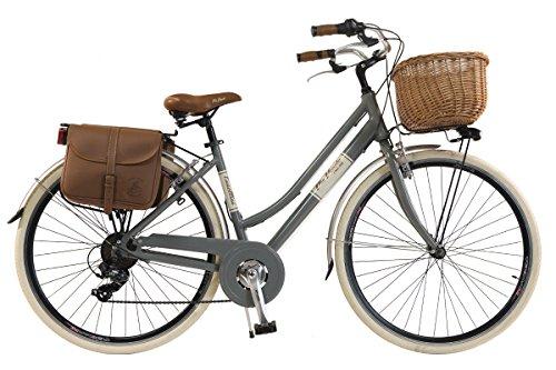 Via Veneto by Canellini Fahrrad Rad Citybike CTB Frau Vintage Retro Via Veneto Alluminium (Grau, 46)