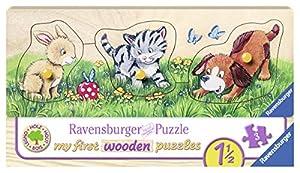 Ravensburger 00.003.203 Puzzle - Rompecabezas (Rompecabezas de Figuras, Animales, Niño pequeño, 1,5 año(s), Madera, 237 mm)