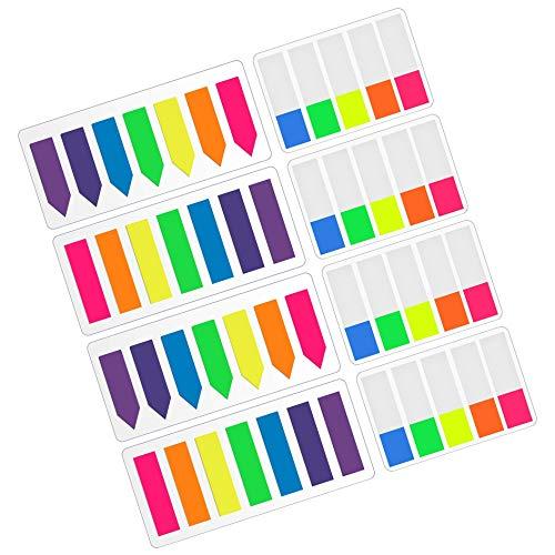 Xhuan 960 Marker, Neon-Seitenmarker, Register für Flaggen, Haftnotizen, 8 Sets