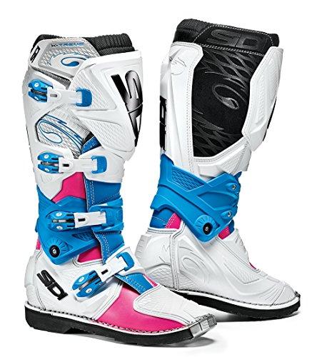 SIDI X-3 - Stivali da Motocross, Edizione Limitata, Colore: Rosa/Bianco/Azzurro