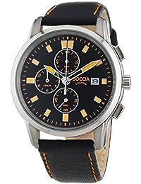 Boccia Herren-Armbanduhr XL Titanium Chronograph Quarz Leder 3763-02