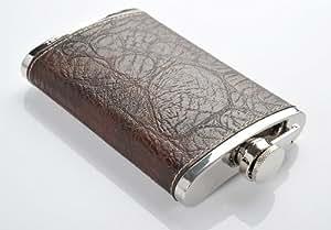 Monumentum Honest Flasque 260ml (9 oz), cuir synthétique de haute qualité, entonnoir incl., brun - Mod. 4919