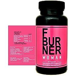 F BURNER WOMAN - mit Garcinia Cambogia, Acetyl-L-Carnitin, Grüner Tee Extrakt, Grüner Kaffee Extrakt, L-Carnitin und Vitamin B2, Hergestellt in Deutschland