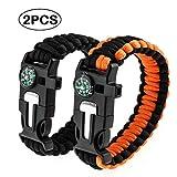 #3: Jisen Survival Bracelet with Knife Paracord Bracelet Outdoor Emergency Bracelet