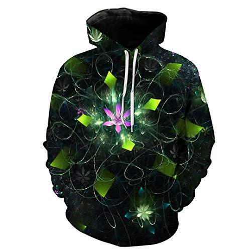 W-WORDEW 3D Lustige Blumen Hoodies Unisex Winter Langarm Sweatshirt Harajuku Streetwear Hoody Hoodie Pullover M -
