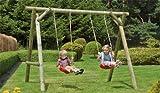 Kinder-Schaukel aus Holz im Maß 300 x 190 x 220 cm ( Breite x Tiefe x Höhe )
