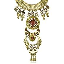 Manera de la vendimia aleación de oro de la turquesa Resina Declaración galvanizado cadena pendiente del collar del cuerpo para la Mujer