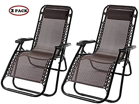 Life Carver Sun Loungers zero gravity chair Reclining garden deck chair Camp sun loungers for garden Set of 2