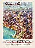Vintage Travel Schweiz für centovalli Locarno Bahnstrecke