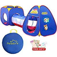 Peradix Kids Baby Play Tent Tunnel 3 in 1, Pop Up Tent Toddlers Crawl Tunnel Playhouse Ball Pit Tent for Children,Boys,Girls,Indoor/Outdoor/Garden