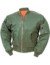 Chaqueta de vuelo MA-1clásica de piloto de cazabombarderos de los EE UU, chaqueta de aviador de seguridad para motoristas
