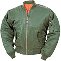 Classic MA-1 Flight Jacket US Pilot Bomber da uomo Airforce Biker sicurezza