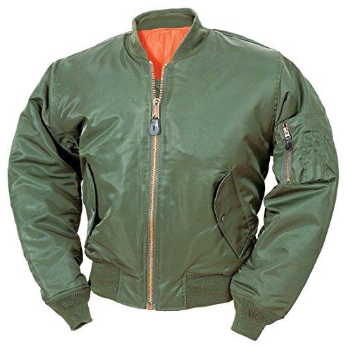 classic-ma-1-flight-jacket-us-pilot-bomber-da-uomo-airforce-biker-sicurezza-sage-green-m
