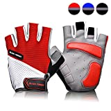 COOLOO Cycling Gloves Bike Gloves Mountain Road Bike Gloves Anti-slip Shock-absorbing Pad Breathable Half Finger Bicycle Biking Gloves for Men & Women