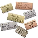 Individuelles Geschenk Schild, Türschild, Klingelschild, Namensschild, Briefkastenschild, Pokalschild, Praxisschild, Aufzugschild, Gravurschild verwendbar inkl. Wunschtext, Logo, selbstklebend