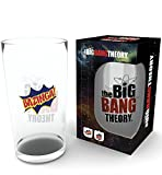 The Big Bang Theory Bazinga Bierglas Pint Glass 0,5 Liter Höhe 14,7 cm, Ø 9 cm am oberen Rand