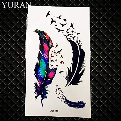 Gvdtykjf adesivo tatuaggio carpa design flash tatuaggi impermeabili tatuaggi finti cranio pesce modello di fiore 21x15 cm grande body art tatuaggi braccio ghb341