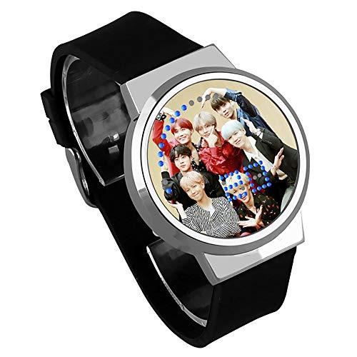 Goule NA BTS Reloj Pantalla Táctil LED Reloj Moda Reloj Creativo Impermeable para Jugadores y Niños y Niñas,G5