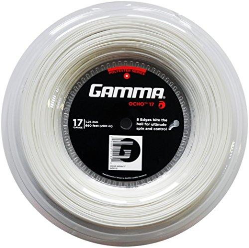Gamma Tennissaite Ocho 17 (1.25 mm) Weiß 200 m Rolle