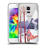 Head Case Designs Bergen Winter Ferien Soft Gel Hülle für Samsung Galaxy S5 Mini